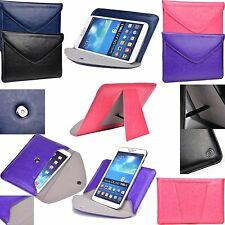 Kroo Easy Travel Leather Envelope with Smart Stand for Vodafone Smart Tab III 7