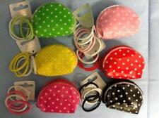 GIRLS BRIGHTLY COLOURED SMALL PVC PURSE WITH 4 ENDLESS HAIR ELASTICS