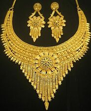Designer Gold Plated Indian Royal Style Necklace Earrings Party Jewellery Set