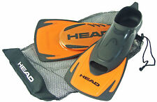 Head Energy Short Blade Swim Fins Orange - Swim Training + Free Draw String Bag