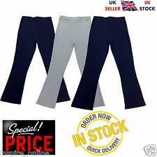 NEW LADIES WOMENS BOOT CUT LEG STRETCH RIBBED TROUSERS ELASTICATED WAIST SIZE