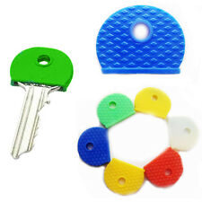 Assorted Colour Key Cap Neon Top Head Cover Plastic Key Tag Chain Holder Caps