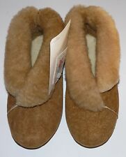 HUSH PUPPIES MR BICK GENUINE SHEEPSKIN WOMEN'S SLIPPERS MADE IN USA BOOTIE STYLE