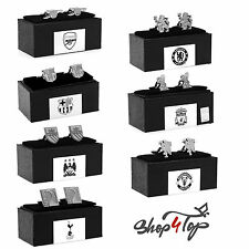 OFFICIAL FOOTBALL SOCCER CLUB TEAM CHROME CUFFLINKS JEWELERY GIFT BOX LICENSED