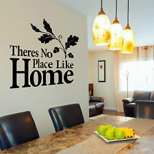 THERES NO PLACE LIKE HOME vinyl wall art sticker decal quote contemporary