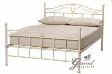 Exclusive Apollo French Style Cream Double Metal Bed Frame Single King Size Beds
