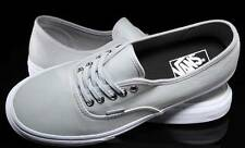VANS AUTHENTIC LEATHER M GRAY SKATEBOARD SHOES MENS NEW AUSSIE SELLER FREE POST