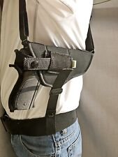 Sig Sauer P226, P229, P250 Compact | Horizontal Shoulder Holster w/ Mag Pouch