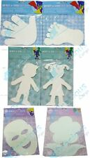BLANK WHITE CARD PAPER CUT OUTS CUT-OUT PROJECTS ART CRAFT SCHOOL DIY HOME
