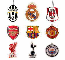 OFFICIAL LICENSED FOOTBALL SOCCER CLUB FC CAR AIR FRESHENER CITRUS SCENT HANGING