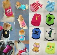 Summer Various Pet Puppy  Small Dog  Cat Pet Clothes Vest  T Shirt  Apparel