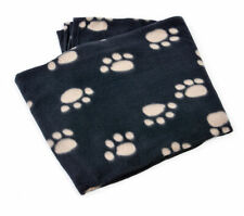 Puppy Dog Soft Fleecy Paw Print Comfort Blanket Polar Fleece Kitten Comforter