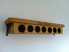The Old Country Farmhouse~Wine Rack Shelf~Wall Mounted Holds 7 Bottles~home bar