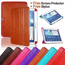 "ULTRA SLIM CASE LEATHER COVER FOR SAMSUNG GALAXY TAB 3 10.1"" P5200 P5210 P5220"