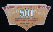 Levis 501 Black Jeans Straight leg Button Fly -  Authentic UK Stock - RRP £85
