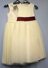 Childrens Girls Occasion Dress Cream Bridesmaid Wedding Formal Party Christening