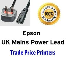 UK Mains Power Lead Cable Cord For Epson Expression Home Photo Premium Printer
