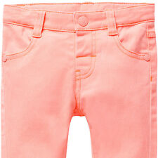 """Baby Girls New With Tags """"Fluro Orange"""" Stretch Jeans/Pants - Size 3-24 Months"""