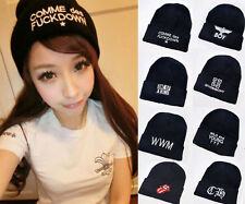 Fashion Cool Hot Unisex Boys Girls Letter Beanie Winter Warm Knitted Hats Caps