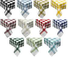 Seersucker Checked Cotton Tablecloths Picnic Outdoor Dining Table Linen Cover