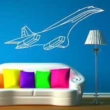 CONCORDE JET AEROPLANE Vinyl wall art sticker decal