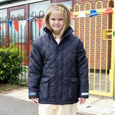 KIDS CHILDS YOUTHS DIAMOND QUILTED JACKET COAT 2cols WARM PADDED BOYS GIRLS NEW