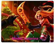 Custom mouse pad, League of Legends, Katarina, 7 to chose from. free shipping