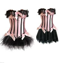 Foxy Pink Showgirl Burlesque Corset & Skirt Costume Reg & Plus Size
