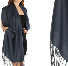 NEW! Fashion Solid Pashmina Silk Scarf Shawl Wrap Buy 5 Get 1 for Free 60 Colors