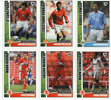 TOPPS MERLIN PREMIER GOLD 2006 FOOTBALL CARDS M-N NEW STRAIGHT FROM THE PACKETS