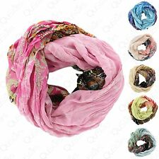 Women's Fashion Multi-Color Cowl Infinity Paisley Design Lightweight Wrap Scarf