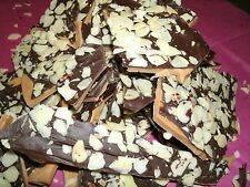 2lbs Homemade English Toffee, Topped w/ Chocolate & Almonds, or pecans. Toffee