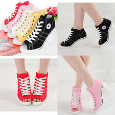 Wedges Trainers Heels Sneakers Platform High Top Ankles Boots Shoes 777 Toe Open