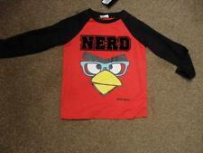 BNWT Angry Birds boys red and black long sleeved tshirt top