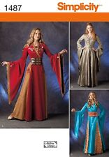 Game of Thrones Simplicity SEW PATTERN 1487 Princess Dress Gown size 6 to 22