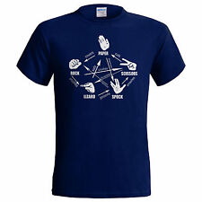 Paper Rock Scissors Lizard Spock Sheldon Cooper in big bang theory SMALL - 5XL