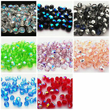 Preciosa Fire Polished Faceted AB Moon Beads 4mm. Pack of 50 or 200.