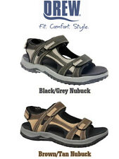 Mens Extra-wide 6E/EEEEEE Fitting Drew Warren Twin Velcro Sandals