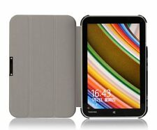 """Ultra Slim Tri Fold Leather Case Cover for Toshiba WT8 8.0"""" Win8.1 Tablet"""