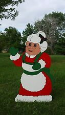 Mrs Santa Claus Christmas Yard Art Decoration -- 3 Sizes to Choose From