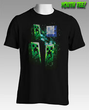 NEW Licensed Quality Minecraft Three Creeper Moon Youth Tee S M L XL Free Post