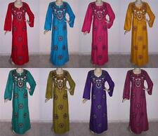 Egyptian Cotton Embroidered Kaftan Caftan Jilbab Arabic Dress Abaya #KS