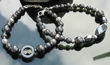 Hematite Beads and 925 Silver Bead Stunning Evening Bracelet 925 Sterling Silver