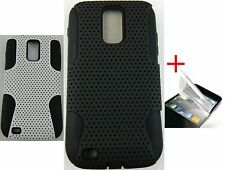 For Samsung Galaxy s2 T989 Rugged Hybrid Mesh Hard Case Cover + Screen Protector