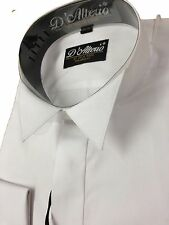 """Tailored Slimmer Fit  White COTTON RICH  Wing Collar Shirt Wedding 14.5-17"""""""