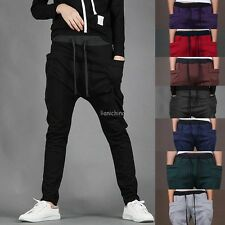 Mens Jogger Dance Sportwear Baggy Harem Pants Slacks Trousers Sweatpants