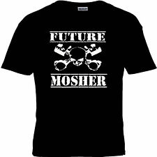MOSHER FUNNY SLOGAN ROCK HEAVY METAL GOTHIC PUNK MUSIC BAND T SHIRT KIDS UNISEX