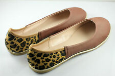 Womens Comfy Ballet Flats Casual Leopard Print Flat Shoes (Brown) x 1 pair