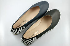 2 color , Womens Comfy Ballet Flats Casual Zebra Print Flat Shoes x1 pair