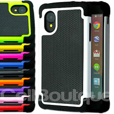 NEW SHOCK PROOF CASE COVER FOR LG GOOGLE NEXUS 5 FREE SCREEN PROTECTOR